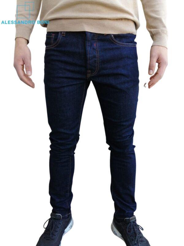 Jeans Denim Blu scuro uomo - abbigliamento online uomo (1)