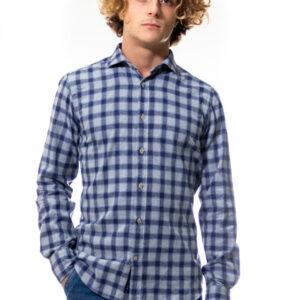 Camicia in velluto (blu verdone quadri) (3)