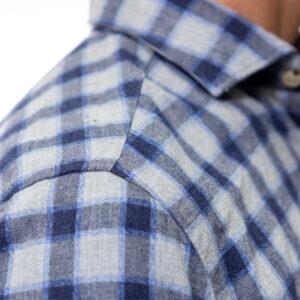Camicia in velluto (blu verdone quadri) (6)