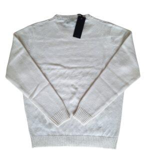 Maglione trecce bianco - alessandro boni camiceria (1)